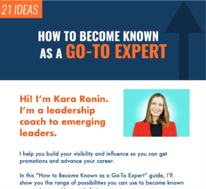 How to Become Known as a Go To Expert